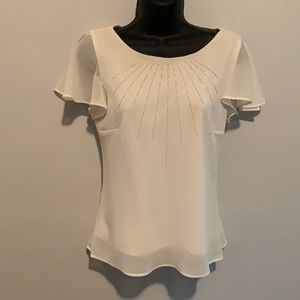 Metaphor White Blouse with Sequence